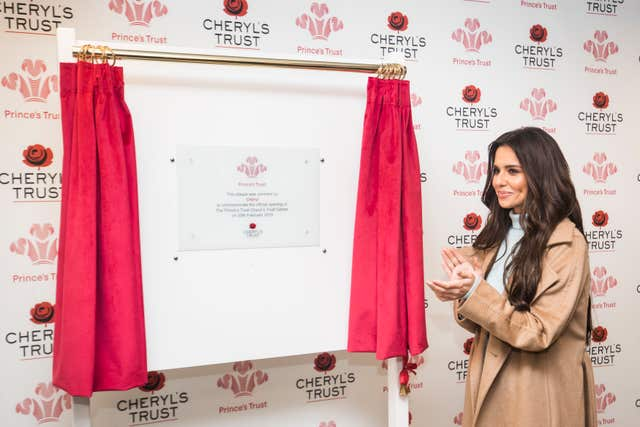 Cheryl opened the new Prince's Trust and Cheryl's Trust centre in Newcastle last month (Danny Lawson/PA)