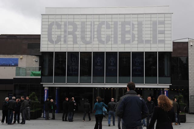 Fans arrive at the Crucible Theatre in Sheffield for the World Snooker Championship
