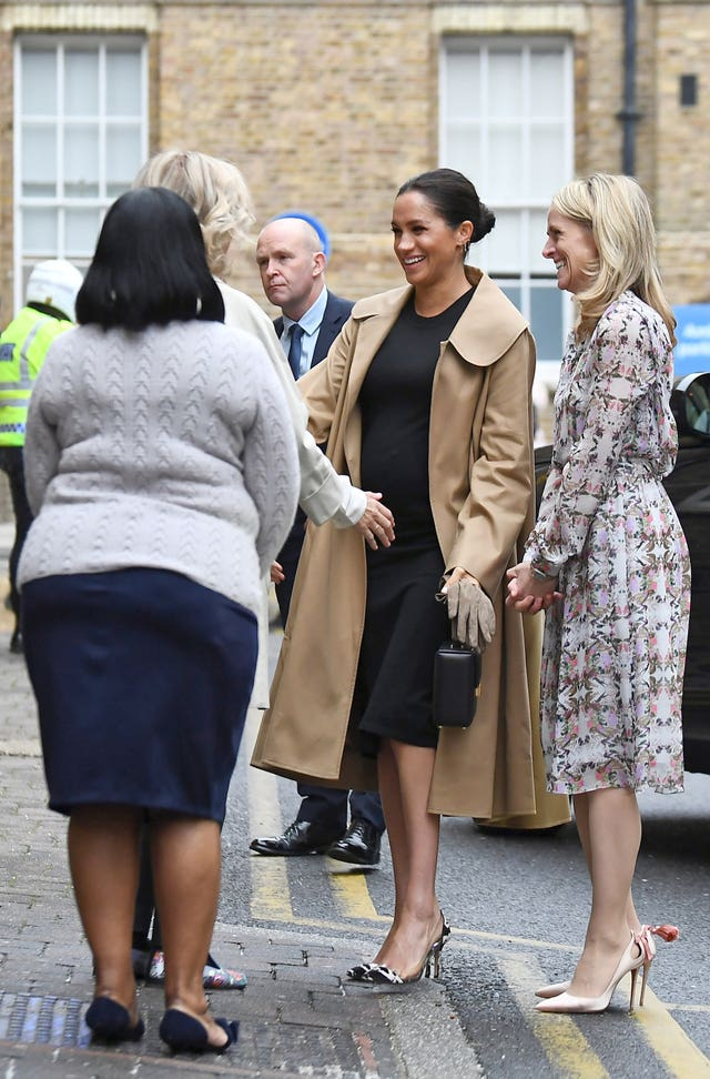 The Duchess of Sussex arrives for a visit to Smart Works in London