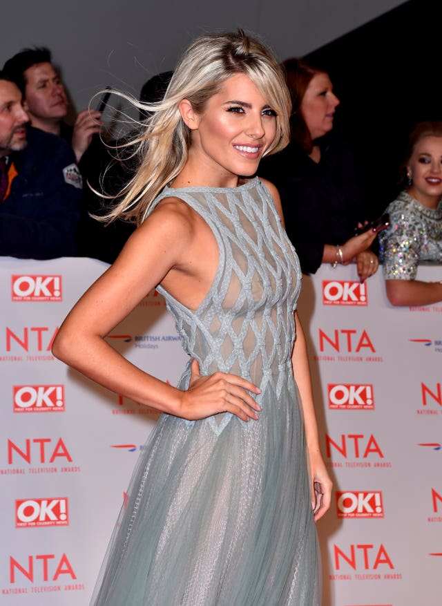 Mollie King on the red carpet