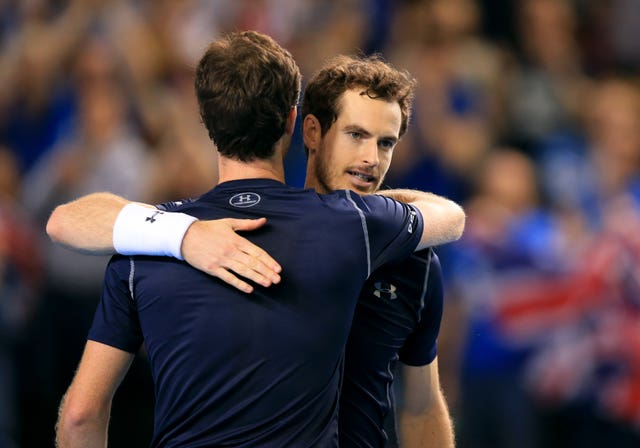 Andy, right, and Jamie Murray