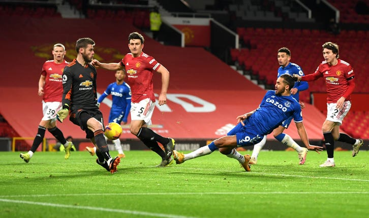 Everton striker Dominic Calvert-Lewin scored with virtually the final kick of the game