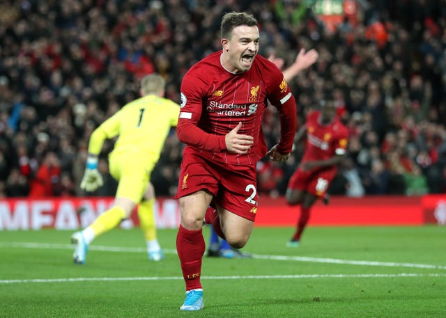 Xherdan Shaqiri marked a rare start for Liverpool with a goal