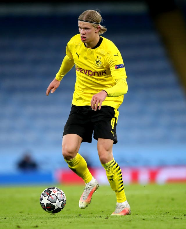 Erling Haaland was unable to score in either leg against City