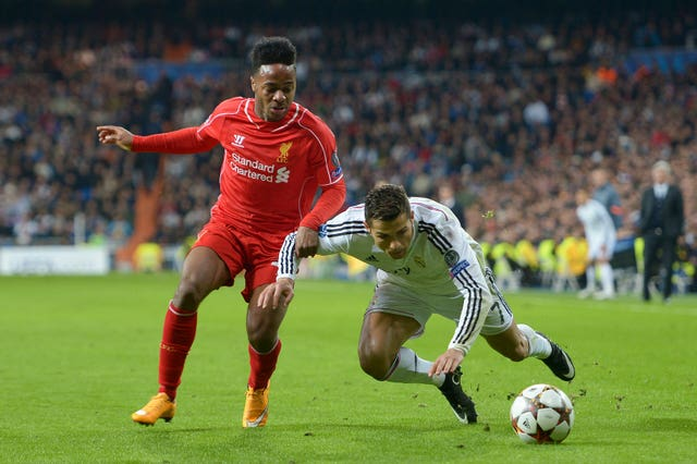 Raheem Sterling going up against Cristiano Ronaldo in his Liverpool days