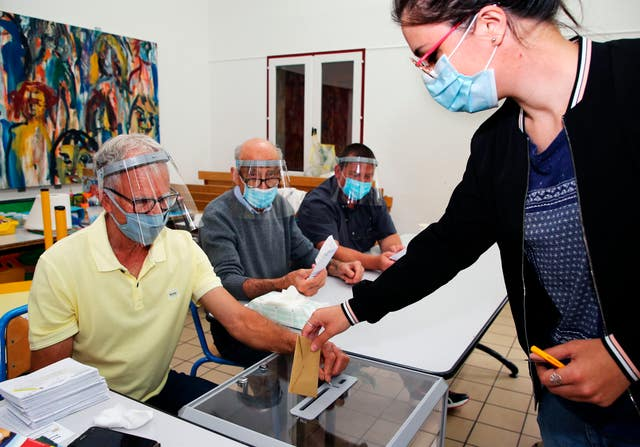 Face masks were mandatory in France's municipal elections