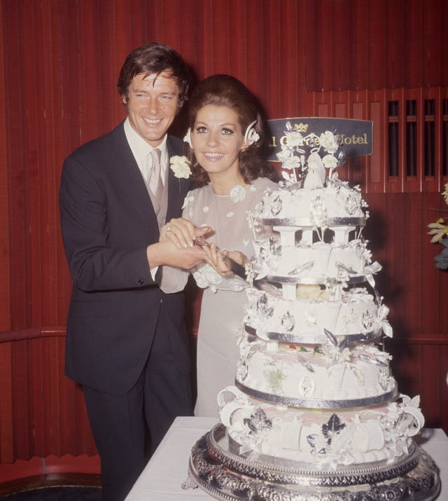 Entertainment – Roger Moore Marries – Royal Garden Hotel, London