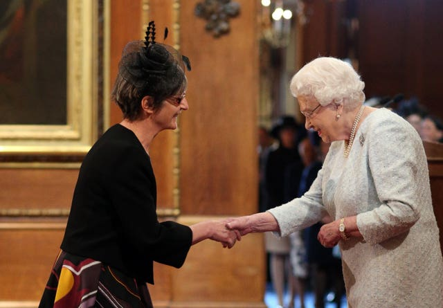 Dr Pankhurst is honoured by the Queen