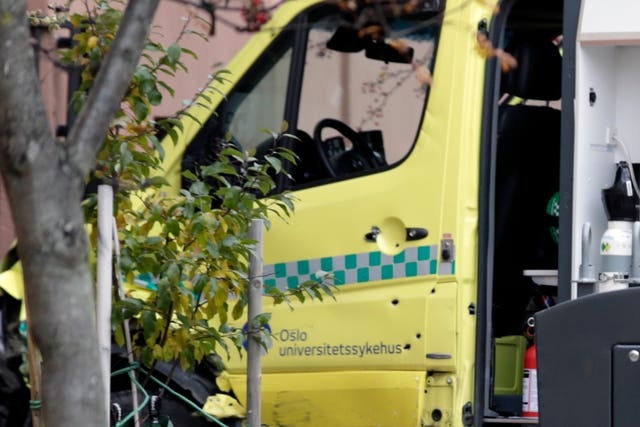 The ambulance with bullet holes in the door