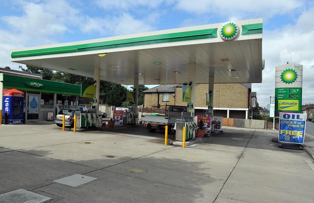 The BP petrol station on Baddow Road, Chelmsford (PA)