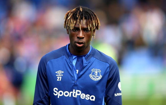 Moise Kean came on to make his Everton debut