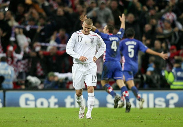 England were beaten by Croatia at Wembley
