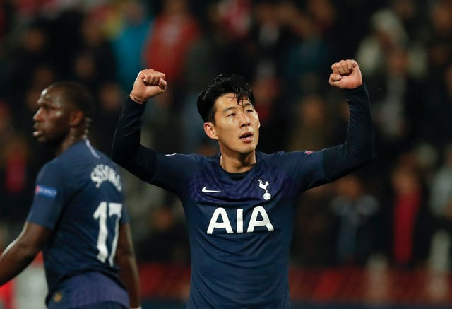 Son scored twice in a 4-0 win for Tottenham against Red Star Belgrade