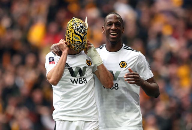 Raul Jimenez celebrated his goal by putting on a wrestling mask