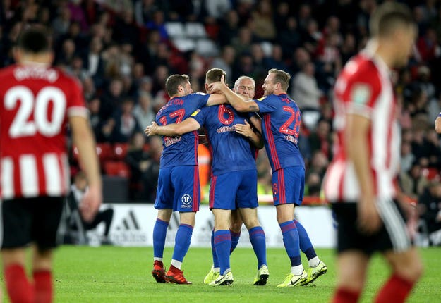 Power celebrates with his Sunderland team-mates