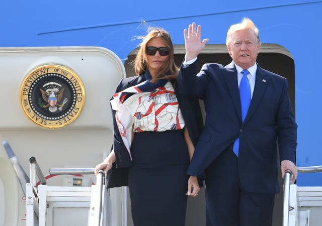 Air Force One and the Trumps