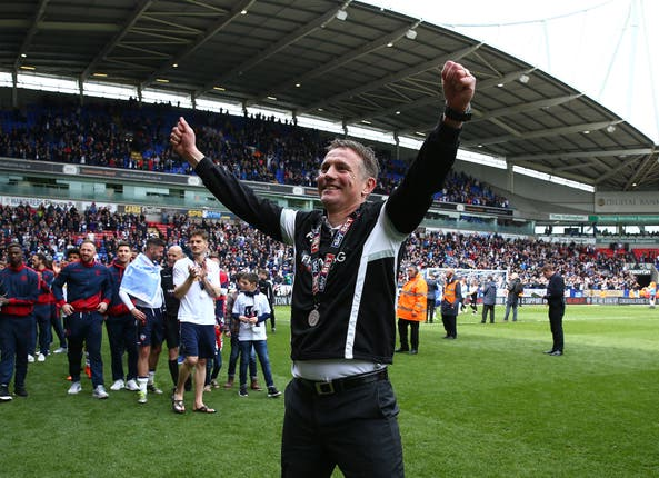 Phil Parkinson took Bolton into the Championship