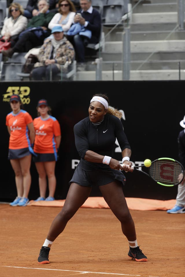 Serena Williams played her only match on clay so far this season in Rome before withdrawing through injury