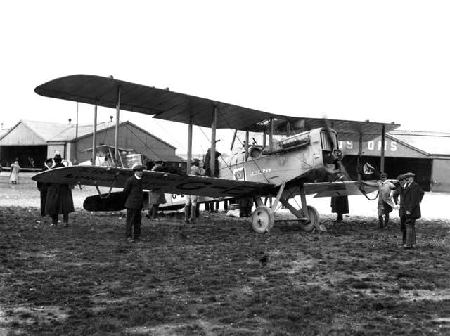 A plane that landed with the help of air traffic control at Croydon Airport (Nats/PA)