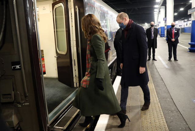 The duke and duchess will spend three days touring the nation by train. Chris Jackson/PA Wire