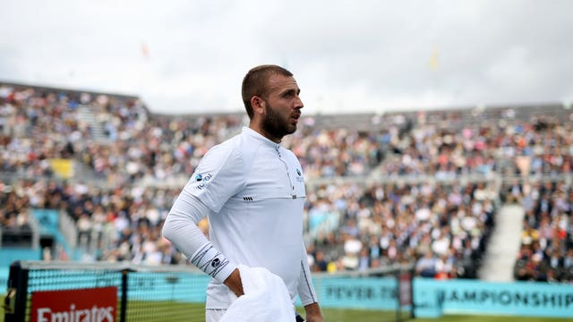 Dan Evans was knocked out of the competition on Wednesday