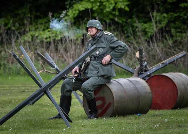 A re-enactor during the Haworth 40s weekend