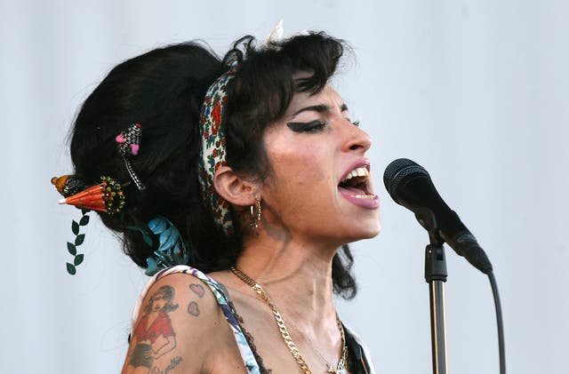 Amy Winehouse performs during the Oxegen Festival in 2008 (Niall Carson/PA)