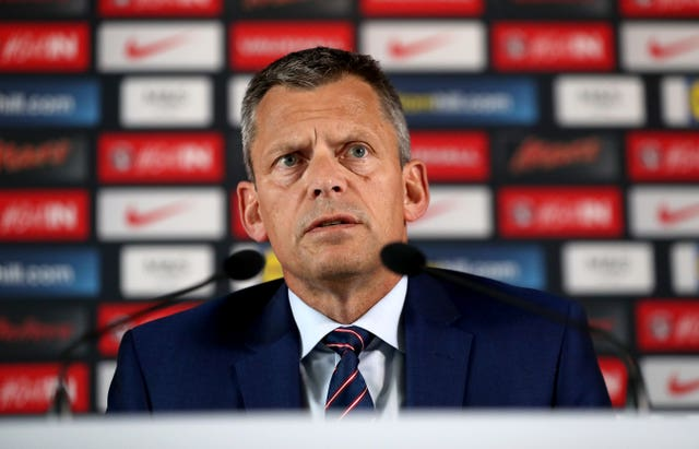 Martin Glenn joined Hodgson in addressing the media the day after the Iceland loss.
