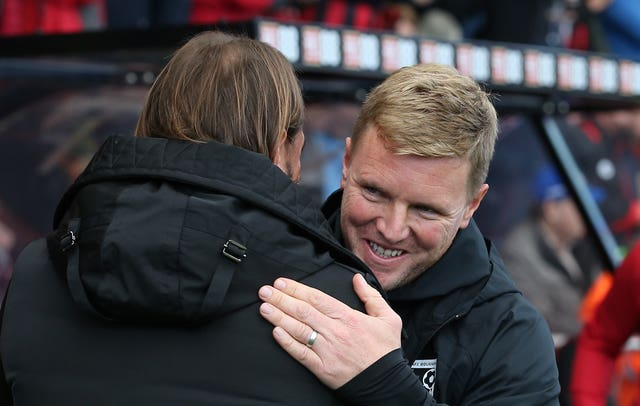 Daniel Farke (left) and Eddie Howe both know they need the points when Norwich host Bournemouth.