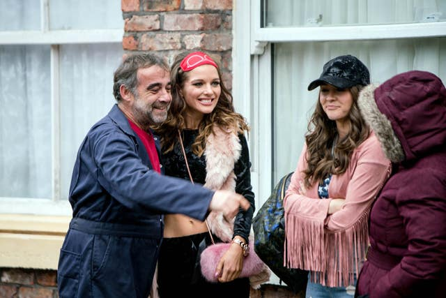 Michael Le Vell on the Corrie set