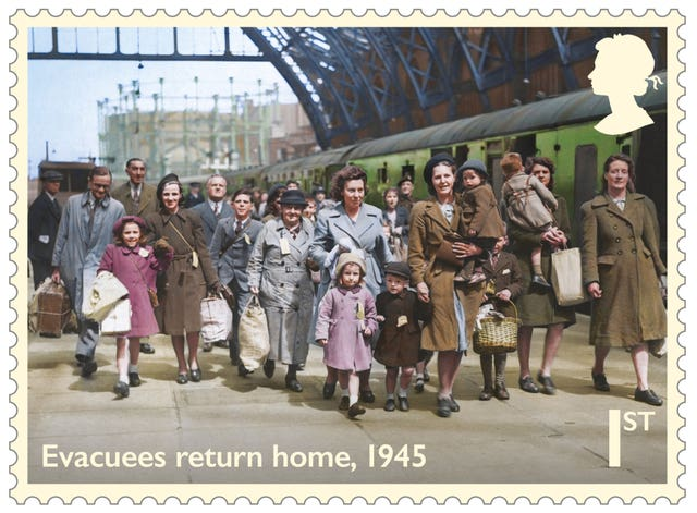 One of eight stamps to mark the 75th anniversary of the end of the Second World War