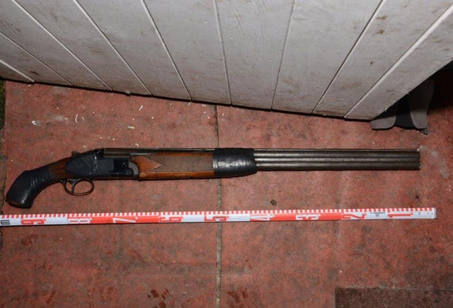 The illegal shotgun used by Daniel Hannam (Avon and Somerset Police/PA)