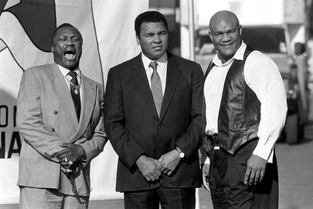 Joe Frazier, Muhammad Ali and George Foreman (left to right) were involved in some high-profile bouts