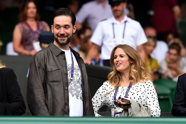 Williams' husband Alexis and Murray's wife Kim were  watching on Centre Court