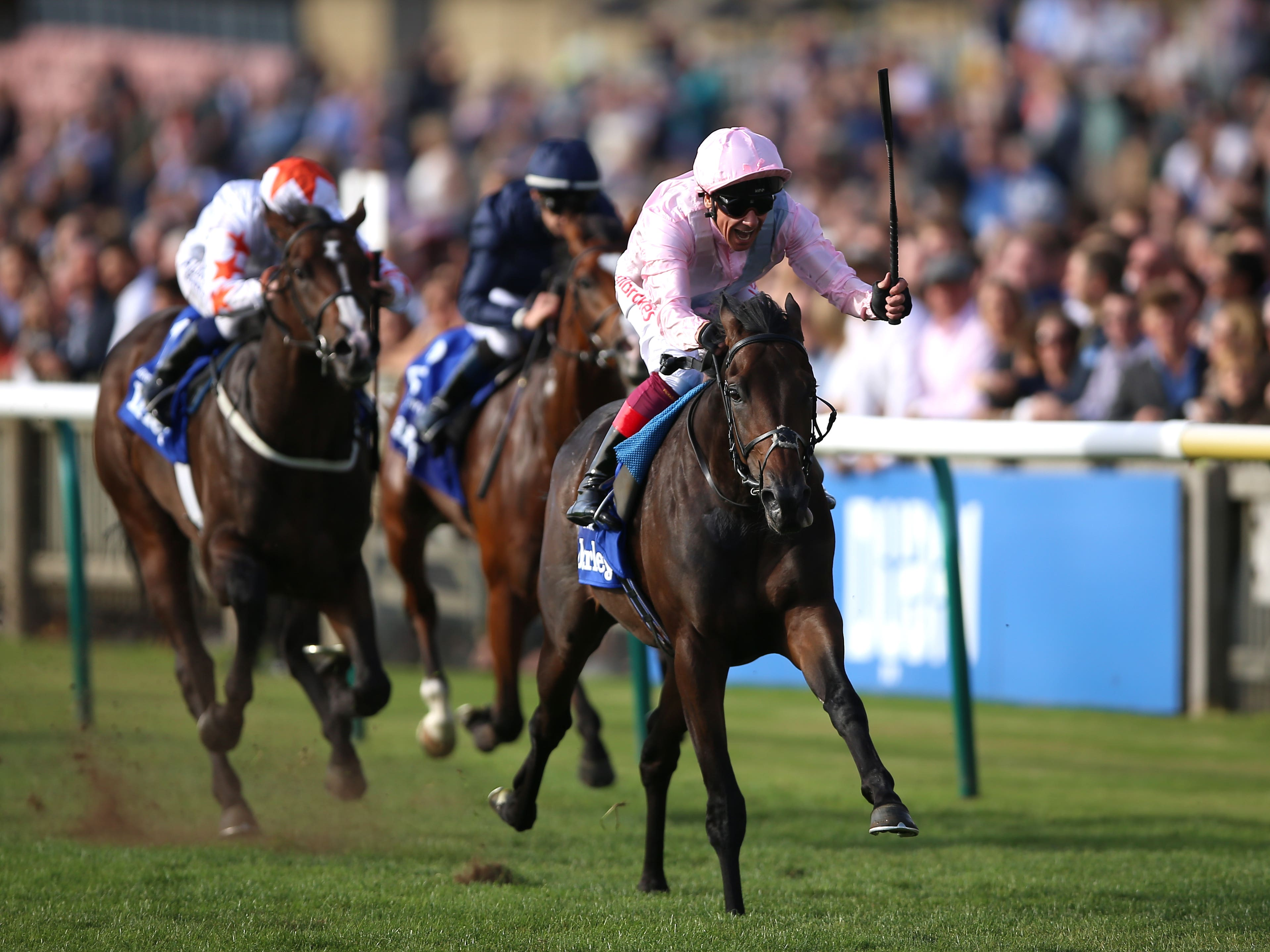 Too Darn Hot wins the Dewhurst Stakes at Newmarket (Nigel French/PA)