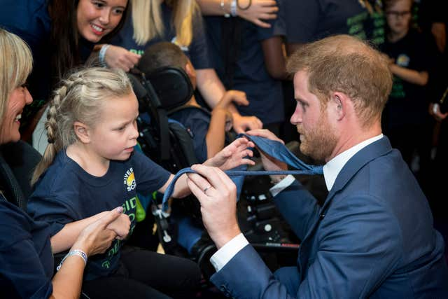 The Duke of Sussex with Ruby Joslin-Smith