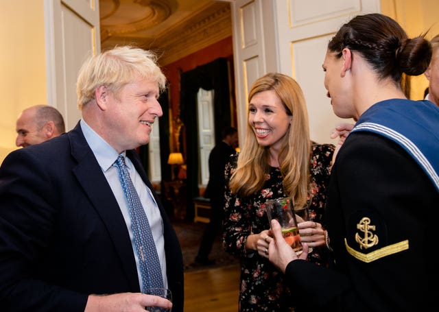 Boris Johnson hosts military reception