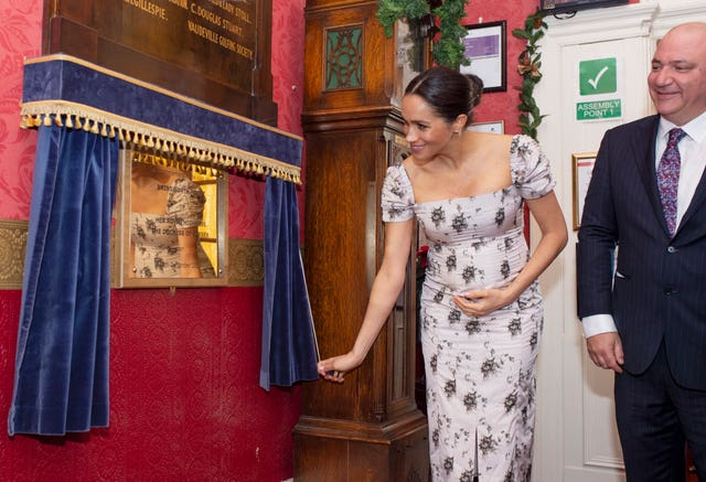 Meghan visiting the Royal Variety Charity care home