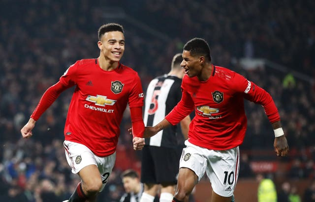 Manchester United's Mason Greenwood celebrates