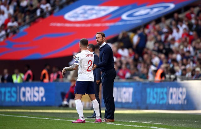 England boss Gareth Southgate, right, gave evidence in support of Kieran Trippier