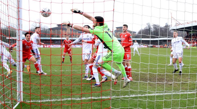 Kiko Casilla conceded three goals as Leeds crashed out of the FA Cup at League Two side Crawley