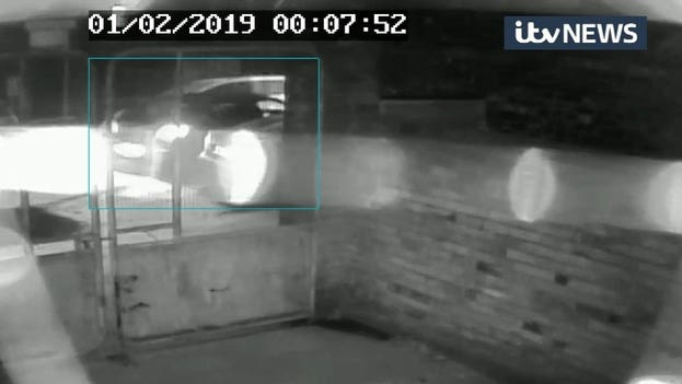 CCTV showing a car being driven away