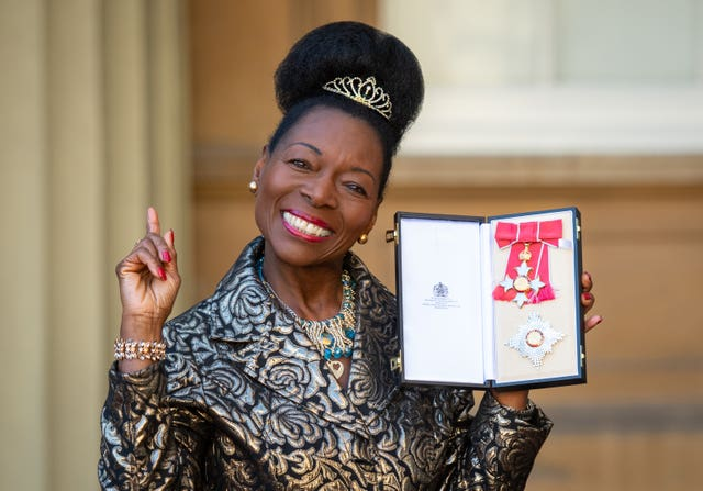 Floella Benjamin at Buckingham Palace