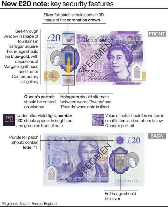 New 20 pound note