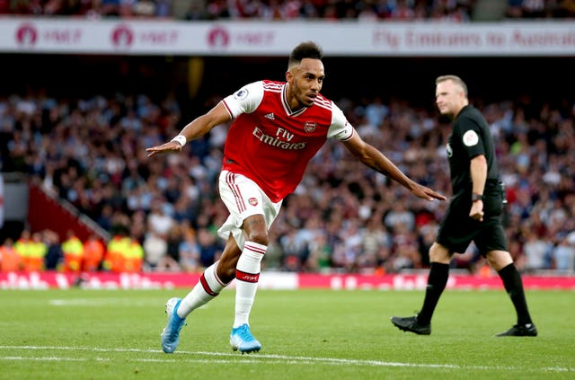 Pierre-Emerick Aubameyang scored Arsenal's winner