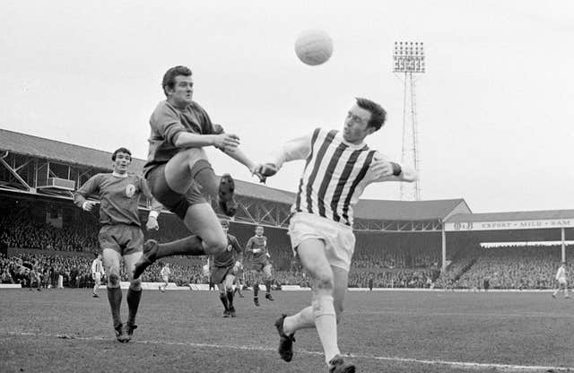 Jeff Astle (right) died at the age of 59