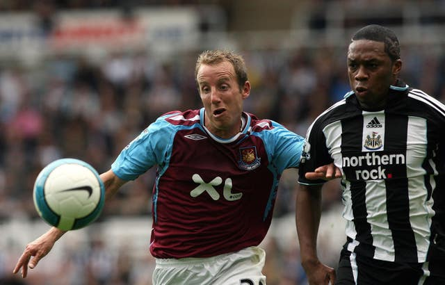 Lee Bowyer had two stints as a West Ham player (Owen Humphreys/PA).