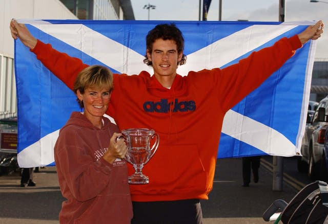 Andrew Murray US Open boys trophy
