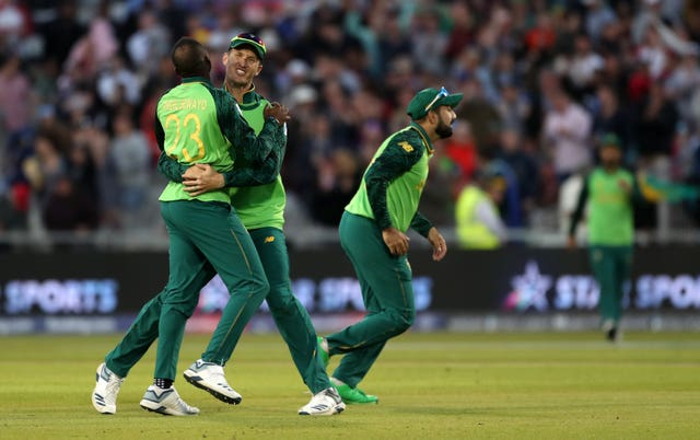 South Africa had  some success to celebrate in their final game of the World Cup