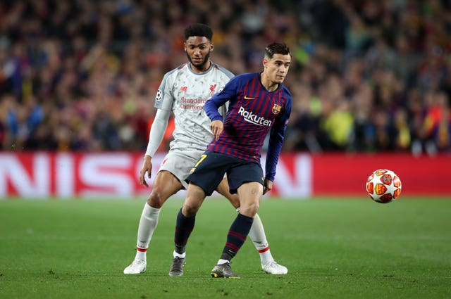 Coutinho (right) joined Barcelona from Liverpool in January 2018 in a £142m deal (Nick Potts/PA).